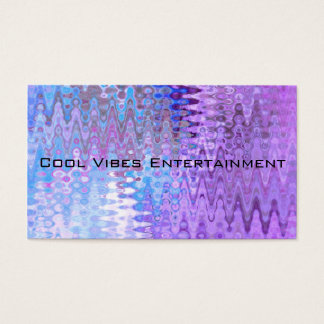 Retro Abstract Art Distortion Waves Blue Purple Business Card