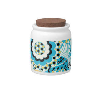 Retro Abstract Art Pattern - Gorgeous! Candy Dish