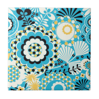 Retro Abstract Art Pattern - Gorgeous! Ceramic Tile