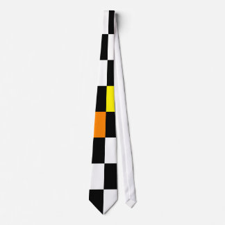 Retro Abstract Black And White Tie