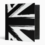 Retro abstract black union jack design 3 ring binders