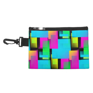 Retro Abstract Block Pattern Accessory Bags