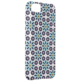 retro abstract blue star flower iphone 5 case