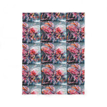 Retro Abstract Butterfly Throw Blanket