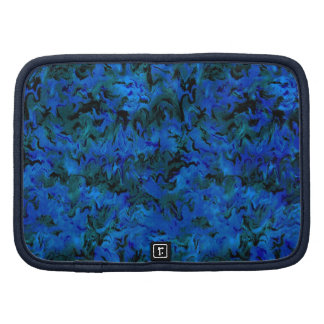 Retro Abstract Charcoal Blue Planner