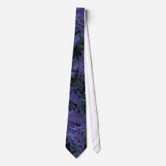 Retro Abstract Charcoal Purple Tie
