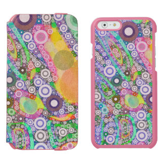 Retro Abstract Circle Pattern iPhone 6/6s Wallet Case