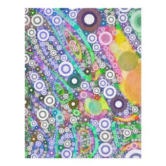 Retro Abstract Circle Pattern Letterhead