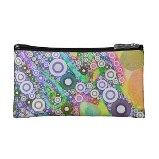 Retro Abstract Circle Pattern Makeup Bag