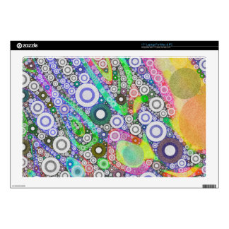 Retro Abstract Circle Pattern Skin For Laptop