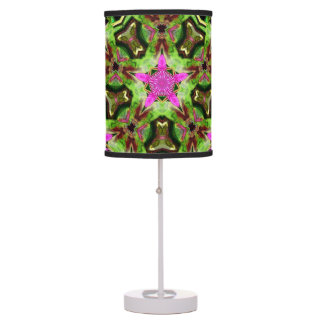 Retro abstract colorburst accent table lamp Star