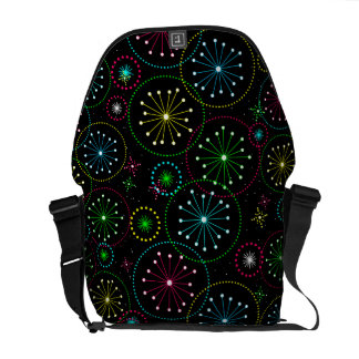 Retro Abstract Colorful Starburst Explosion Messenger Bag