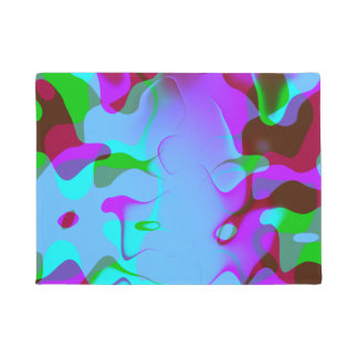 Retro Abstract Colorsplash Doormat