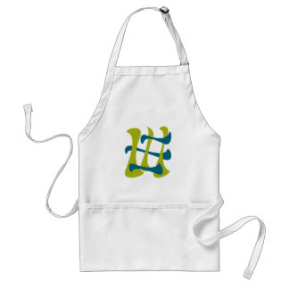 retro abstract current adult apron