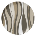 Retro Abstract Dinner Plate