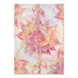 Retro Abstract Floral Paisley Sketch Pattern Card