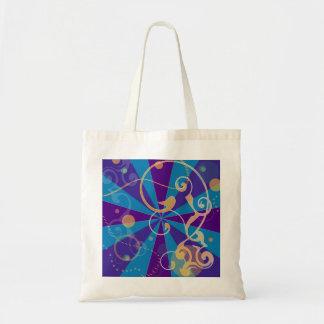 Retro Abstract Funky Swirl Bag