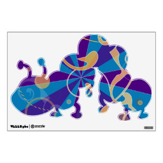 Retro Abstract Funky Swirl Caterpiller Wall Sticker