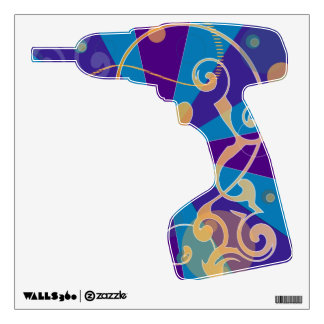 Retro Abstract Funky Swirl Drill Wall Decal