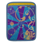 Retro Abstract Funky Swirl Sleeves For iPads