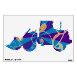 Retro Abstract Funky Swirl Tractor Wall Decals