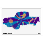 Retro Abstract Funky Swirl Truck Room Decal
