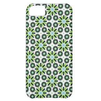 retro abstract green star flower iphone 5 case