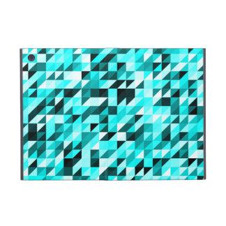 Retro Abstract Light Blues Triangle Pattern iPad Mini Cover