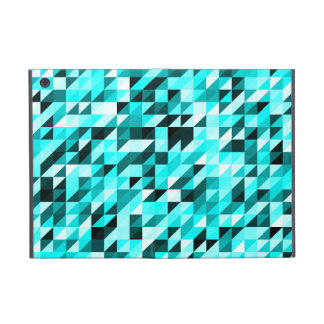 Retro Abstract Light Blues Triangle Pattern iPad Mini Cases