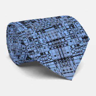 Retro Abstract Lines Cornflower blue Neck Tie