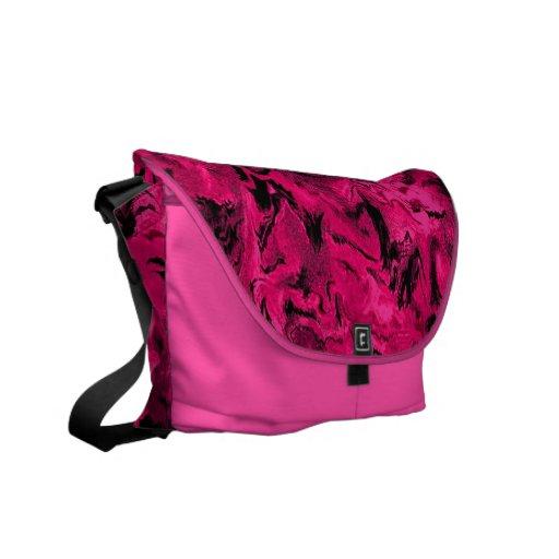 Retro Abstract Magenta Hot Pink Messenger Bag