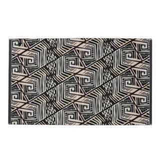 Retro Abstract Monochrome tile design iPad Cases