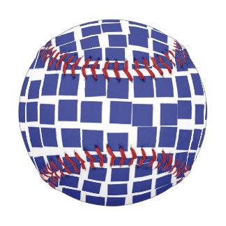 Retro Abstract Mosaic Squares Blue.jpg Baseball