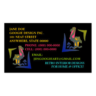 RETRO ABSTRACT NEON FLAMINGO ~ BUSINESS CARDS! Double-Sided STANDARD BUSINESS CARDS (Pack OF 100)