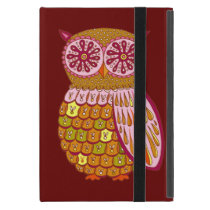 Retro Abstract Owl iPad Mini Case with Kickstand