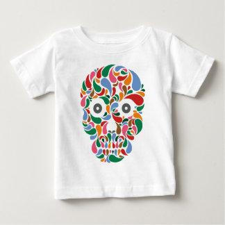 Retro / Abstract paisley color drop skull Baby T-Shirt