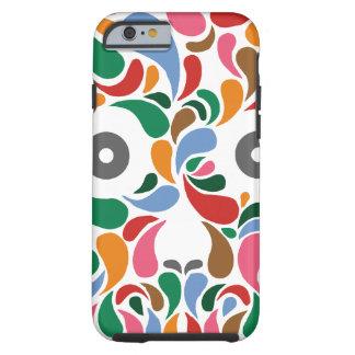 Retro / Abstract paisley color drop skull Tough iPhone 6 Case