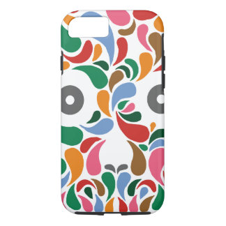 Retro / Abstract paisley color drop skull iPhone 7 Case
