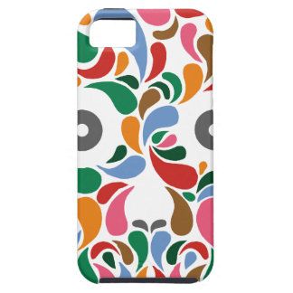 Retro / Abstract paisley color drop skull iPhone SE/5/5s Case