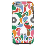 Retro / Abstract paisley color drop skull iPhone 6 Case