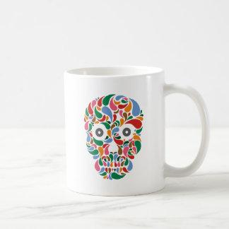 Retro Abstract paisley color drop skull Mug