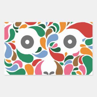 Retro / Abstract paisley color drop skull Rectangular Sticker