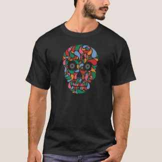 Retro / Abstract paisley color drop skull T-Shirt