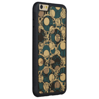 Retro Abstract Pattern Carved® Maple iPhone 6 Plus Bumper