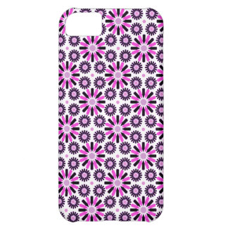 retro abstract pink  star flower iphone 5 case