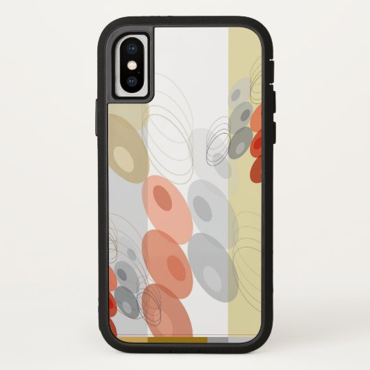 Retro Abstract Red & Grey Mod Bubbles Pattern Case