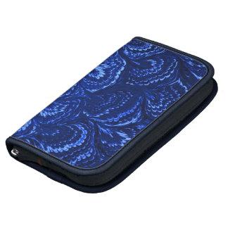 Retro Abstract Swirls Sapphire Blue Day Planner
