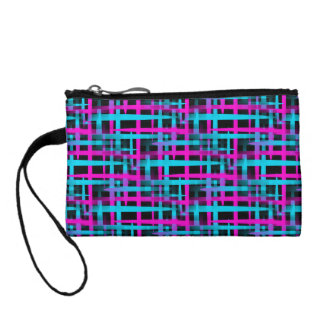 Retro Abstract Weave Pattern Coin Purse