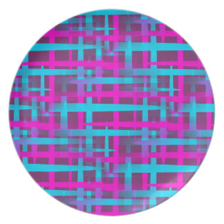 Retro Abstract Weave Pattern Dinner Plate