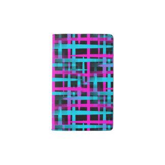 Retro Abstract Weave Pattern Pocket Moleskine Notebook